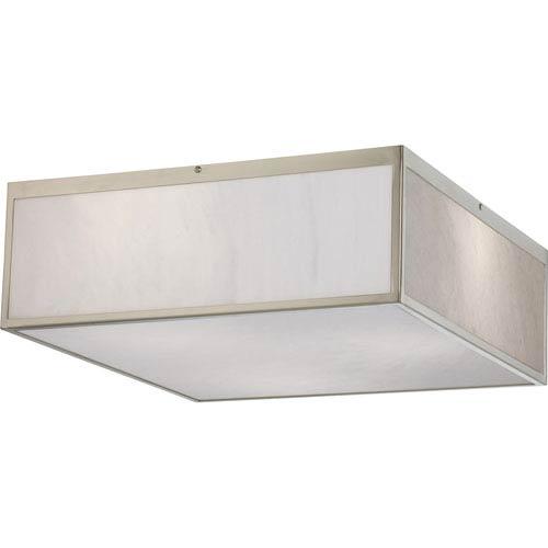 Crate Brushed Nickel 17-Inch LED Flush Mount