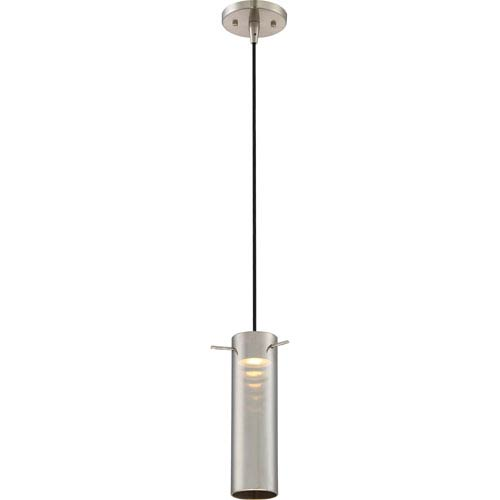 Nuvo Lighting Pulse Brushed Nickel LED Mini Pendant with Mirrored Glass