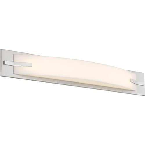 Nuvo Lighting Bow Brushed Nickel 29-Inch LED Vanity