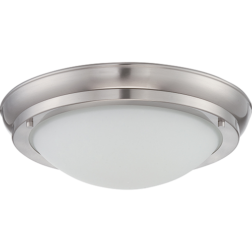 Nuvo Lighting Poke Brushed Nickel LED Flush Mount
