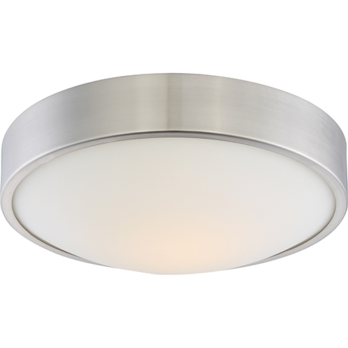 Nuvo Lighting Perk Brushed Nickel 13-Inch Flush Mount