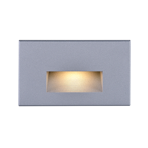 Gray LED Outdoor Horizontal Step Light 277 Volts