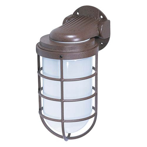 Nuvo Lighting Old Bronze One-Light 11-Inch High Outdoor Industrial Style Wall Mount with Frosted Glass