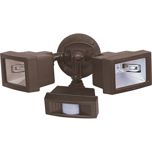 Nuvo Lighting Bronze Two-Light Outdoor Flood Light with Motion Sensor