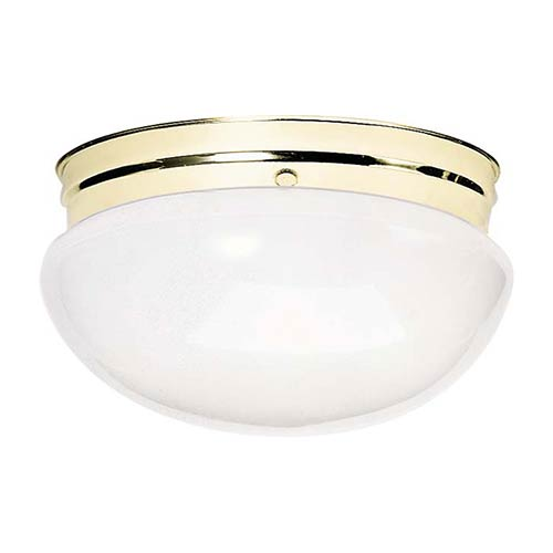 Nuvo Lighting Polished Chrome Two-Light Flush Mount with Large White Mushroom Glass