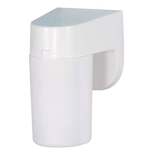Nuvo Lighting White One-Light Fluorescent Outdoor Porch Wall Sconce with Lexan Cylindrical Shade