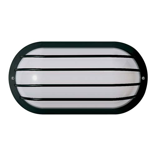 Nuvo Lighting White One-Light Outdoor Oval Cage Fluorescent Wall Sconce with White Polysynthetic
