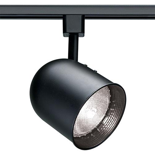 Nuvo Lighting Black One-Light Short Bullet Cylinder Track Head PAR20