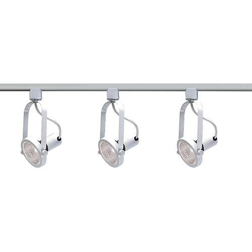 Nuvo Lighting White Three-Light PAR30 Gimbal Ring Track Kit