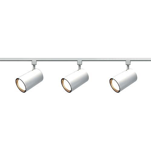 White Three-Light R30 Straight Cylindrical Track Kit