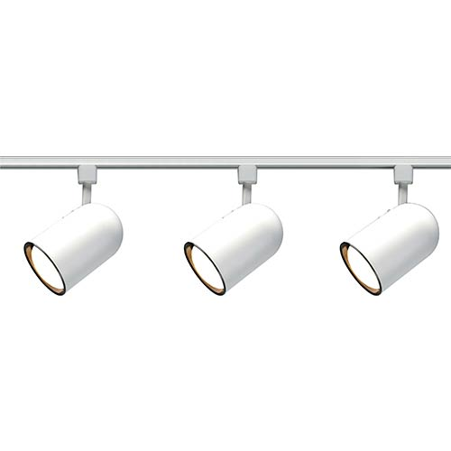 Nuvo Lighting White Three-Light R30 Bullet Cylindrical Track Kit