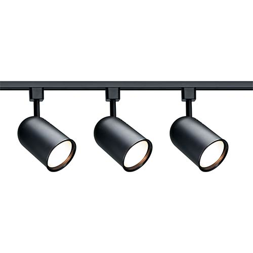 Nuvo Lighting Black Three-Light R30 Bullet Cylindrical Track Kit
