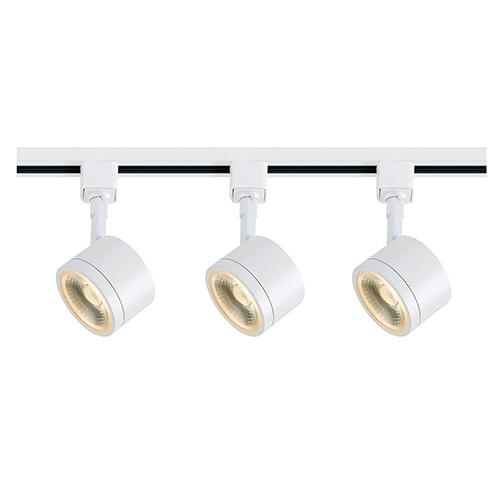 White LED Round Track Lighting Kit 3000K 36 Degree