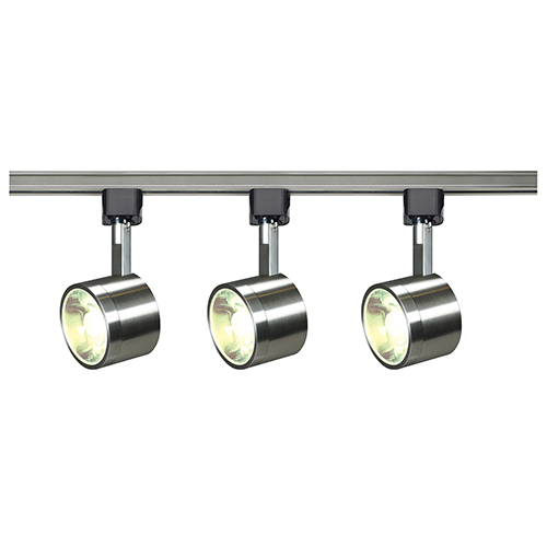 Nuvo lighting brushed nickel led round track lighting kit 3000k 36 nuvo lighting brushed nickel led round track lighting kit 3000k 36 degree aloadofball Images