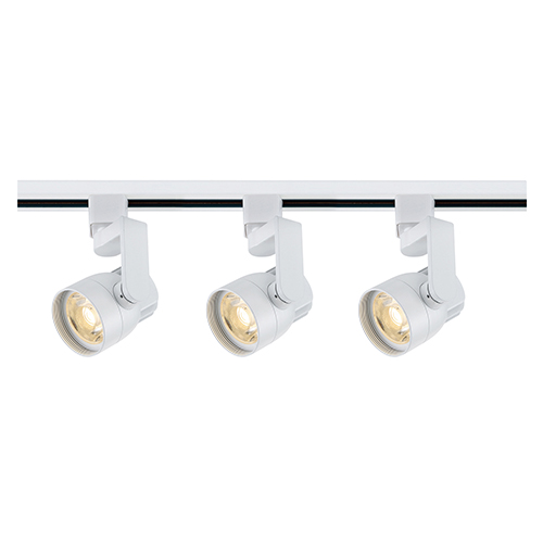 White LED Round Shape with Angle Arm Track Lighting Kit 3000K 36 Degree