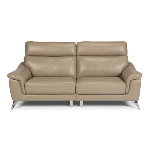 Beige Upholstered Sofa