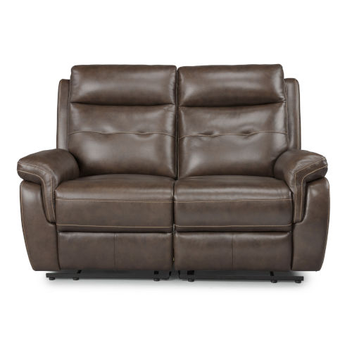 Brown Power Motion Reclining Loveseat