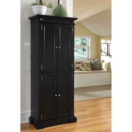 Home Styles Furniture Americana Black Pantry
