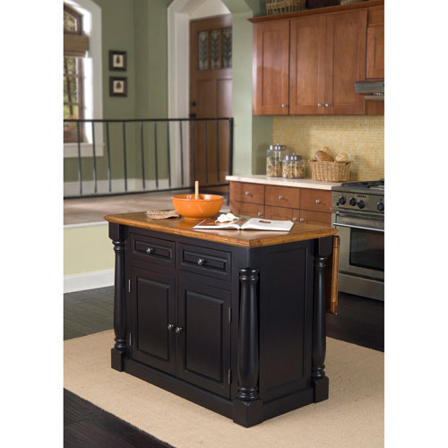 Home Styles Furniture Monarch Roll-out Leg Kitchen Cart