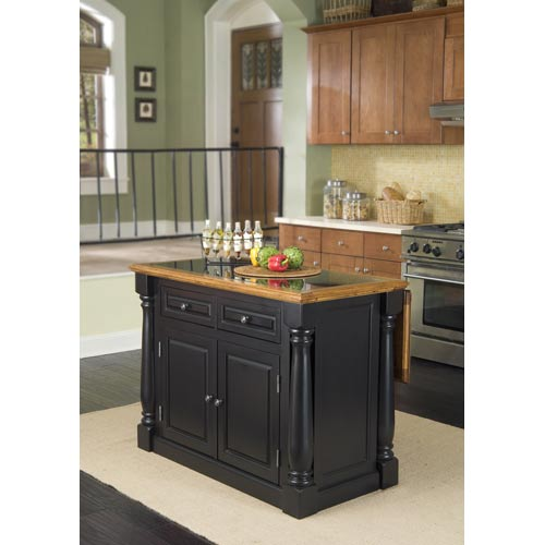 Home Styles Furniture Monarch Roll-out Leg Kitchen Cart with Granite Top