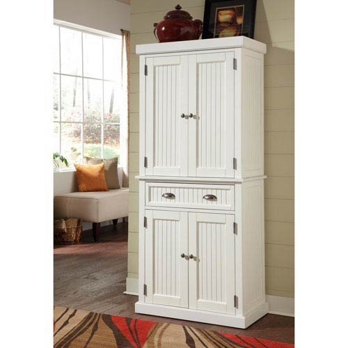 Nantucket Distressed White Pantry