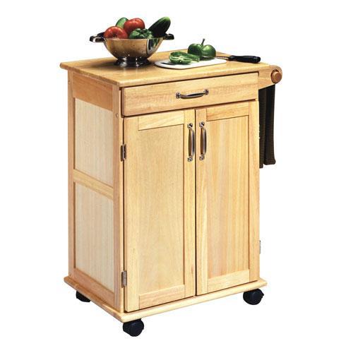 Natural Cart with Wood Top