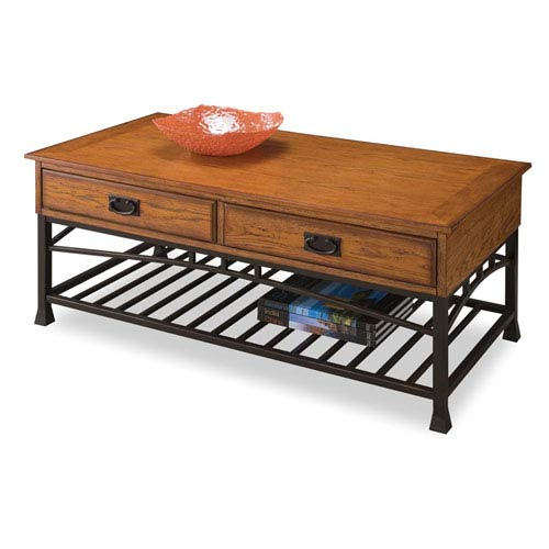 Home Styles Furniture Modern Craftsman Oak Coffee Table