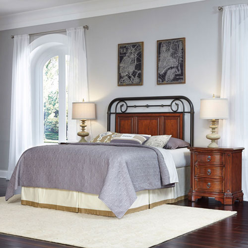 Richmond Cognac Hill Queen/Full Headboard and Two Night Stands