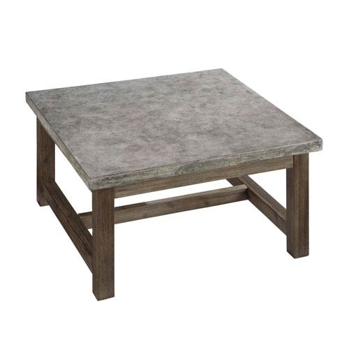 Home Styles Furniture Concrete Chic Brown And Gray Square Coffee Table
