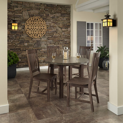 Concrete Chic Brown and Gray Five Piece Dining Set