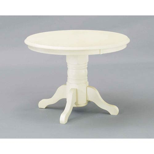 Home Styles Furniture White Round Pedestal Dining Table 5177 30