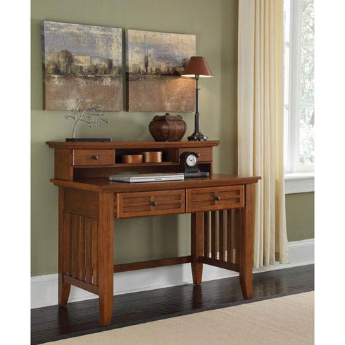 Arts and Crafts Cottage Oak Student Desk and Hutch