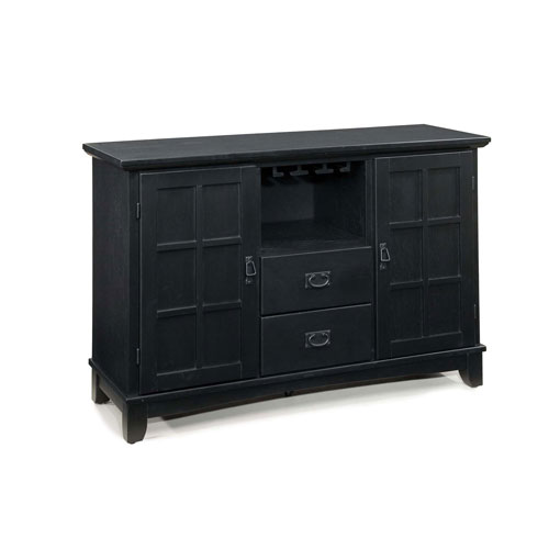 Arts and Crafts Buffet Black Finish