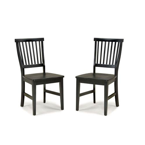 Home Styles Furniture Arts and Crafts Black Dining Chair, Pair