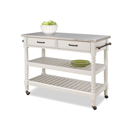 Home Styles Furniture Savannah White Cart
