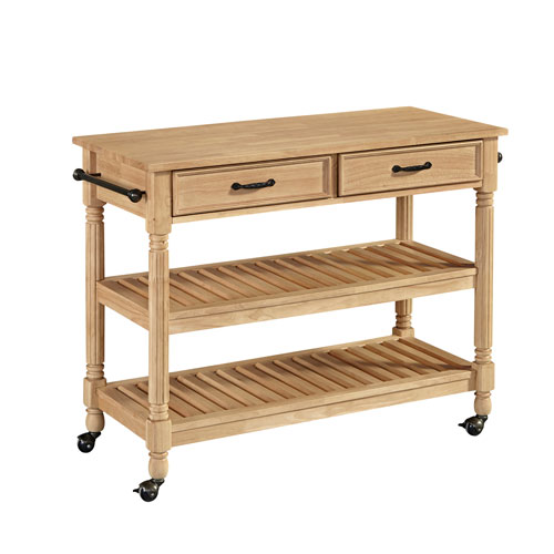 Home Styles Furniture Savannah Natural Kitchen Cart