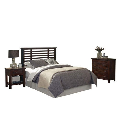 Home Styles Furniture Cabin Creek King and California King Headboard, Night Stand, and Chest