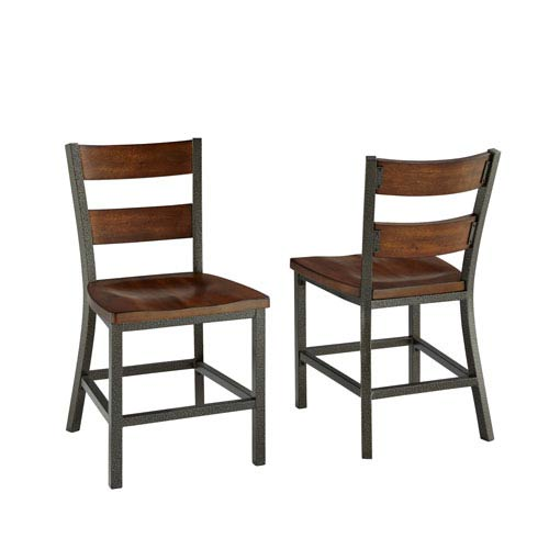 Home Styles Furniture Cabin Creek Multi-Step Chestnut Dining Chair, Set of 2