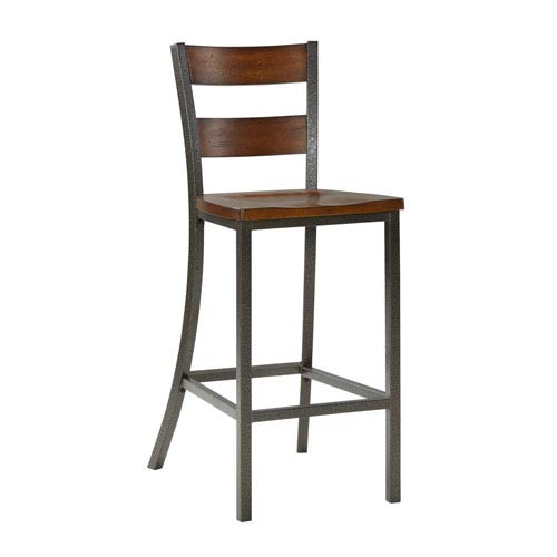 Home Styles Furniture Cabin Creek Multi-Step Chestnut 45.5-Inch Bar Stool