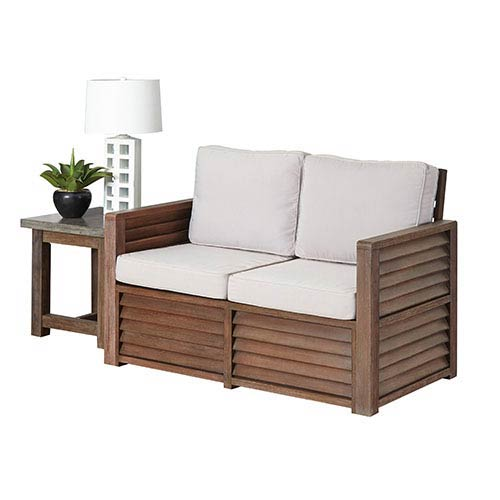 Home Styles Furniture Barnside Aged Barnside Love Seat and End Table