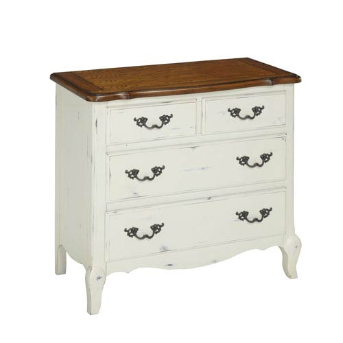 Home Styles Furniture The French Countryside Oak and Rubbed White Drawer Chest