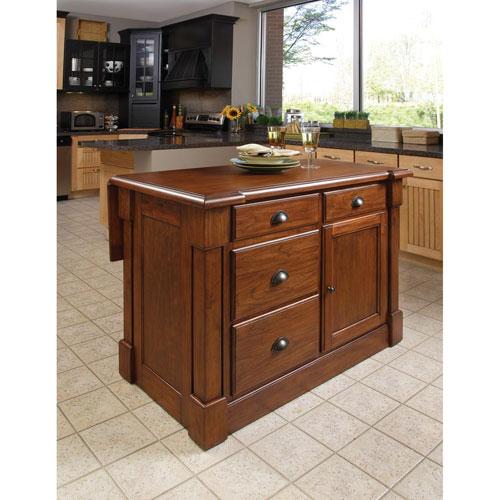 Home Styles Furniture Aspen Rustic Cherry Kitchen Island