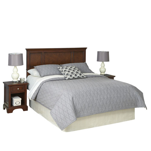 Home Styles Furniture Chesapeake Cherry King Headboard and Two Night Stands
