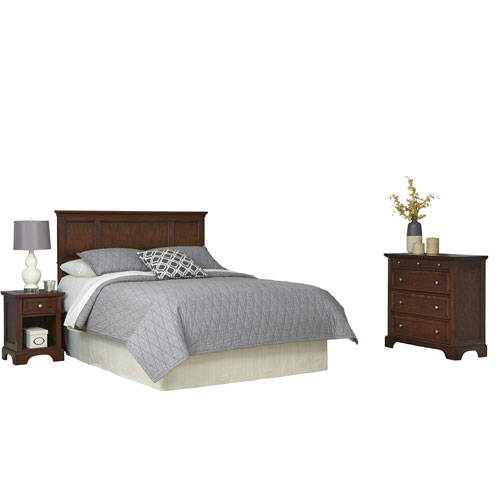 Home Styles Furniture Chesapeake Cherry King Headboard, Night Stand and Chest