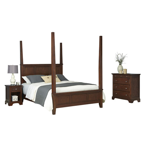 Chesapeake Cherry King Poster Bed, Night Stand and Chest