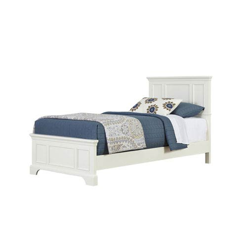 Naples White Twin Bed