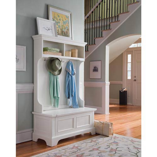 Home Styles Furniture Naples White Hall Tree 5530 49 Bellacor