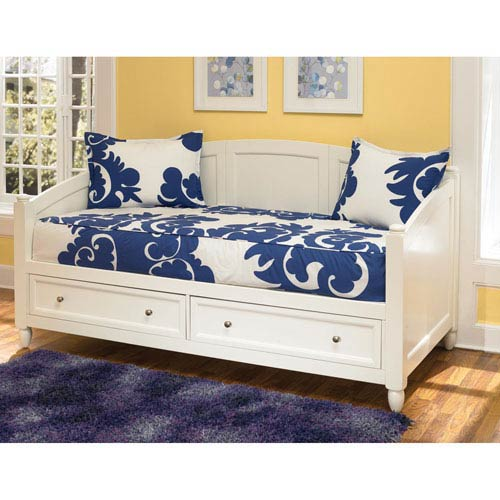 Naples White Daybed with storage