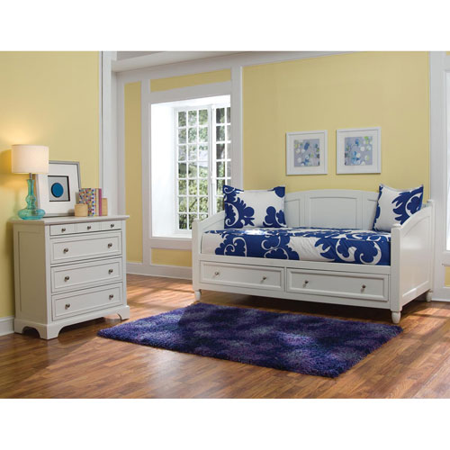 Home Styles Furniture Naples White Daybed and Chest