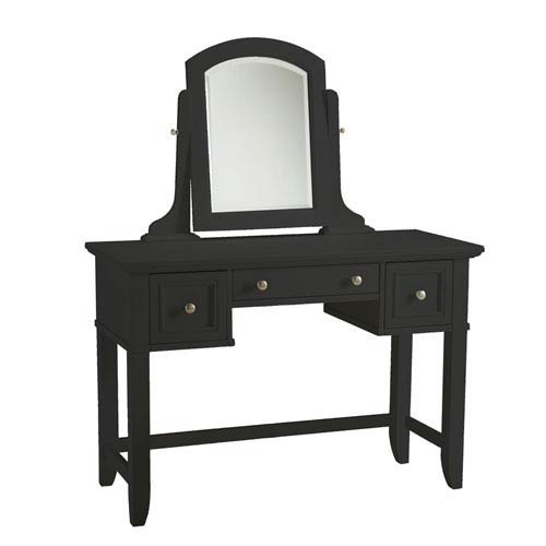 Home Styles Furniture Bedford Black Vanity Table